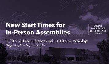 New Sunday Time Schedule